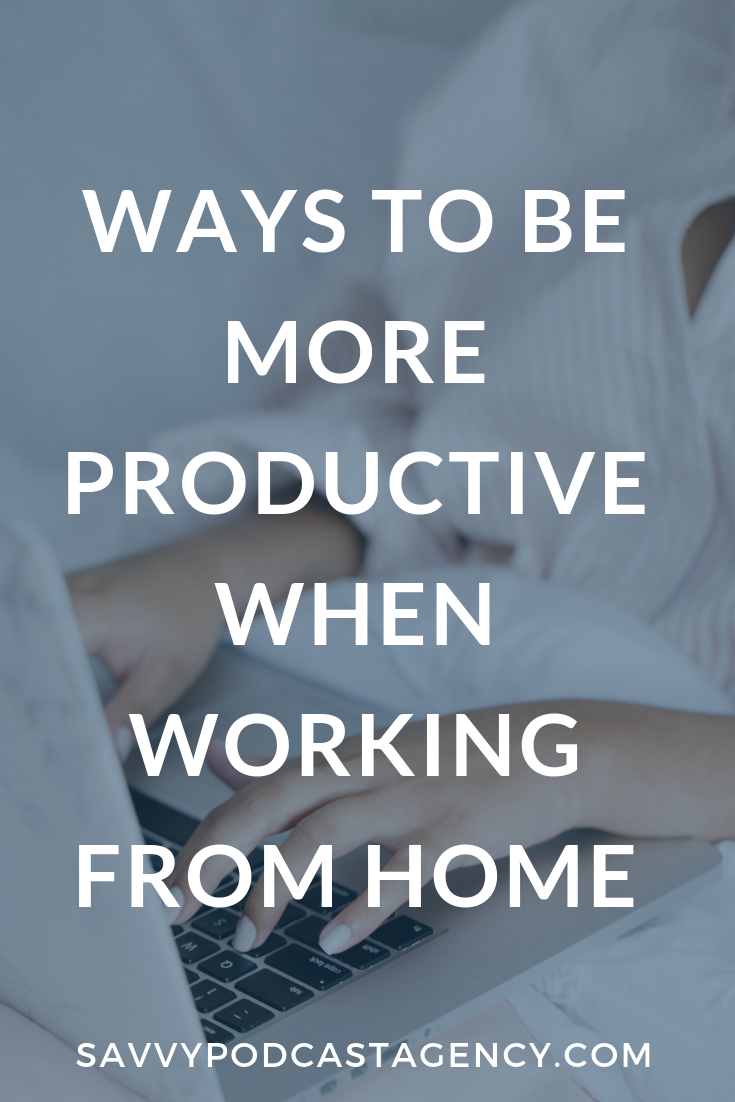 I'm sharing some ways to be more productive when working from home today on the blog.