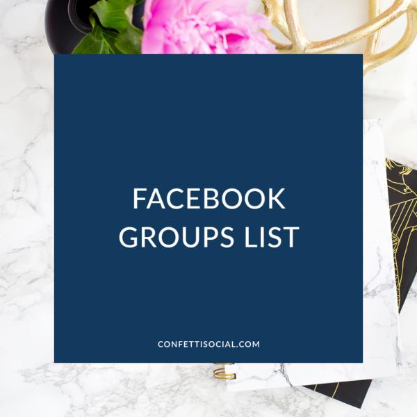 Facebook Groups List