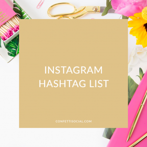 Instagram Hashtag List